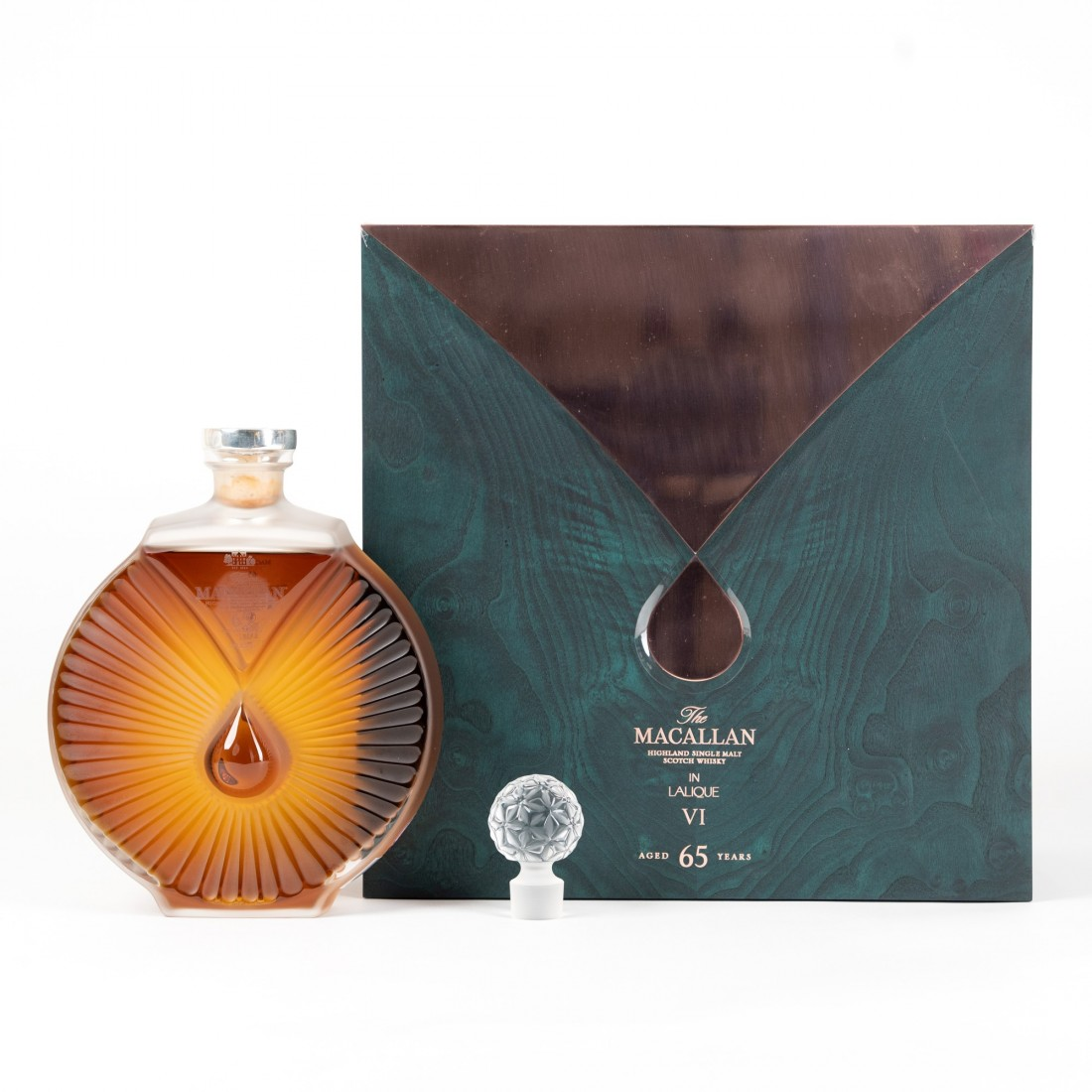Macallan 65 Year Old Lalique Six Pillars Collection No.6 / Bottle 1