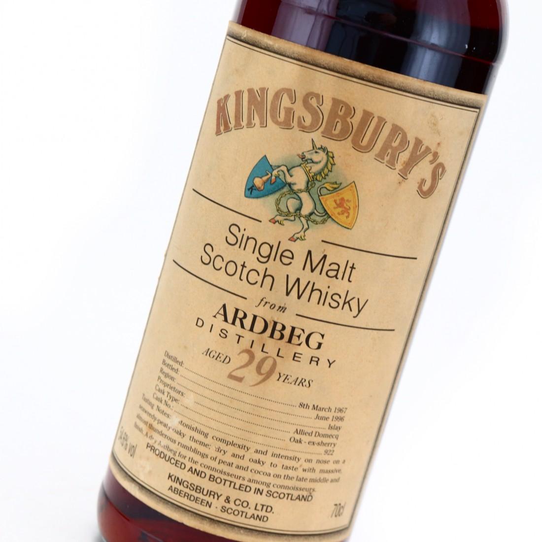 Ardbeg 1967 Kingsbury 29 Year Old #922