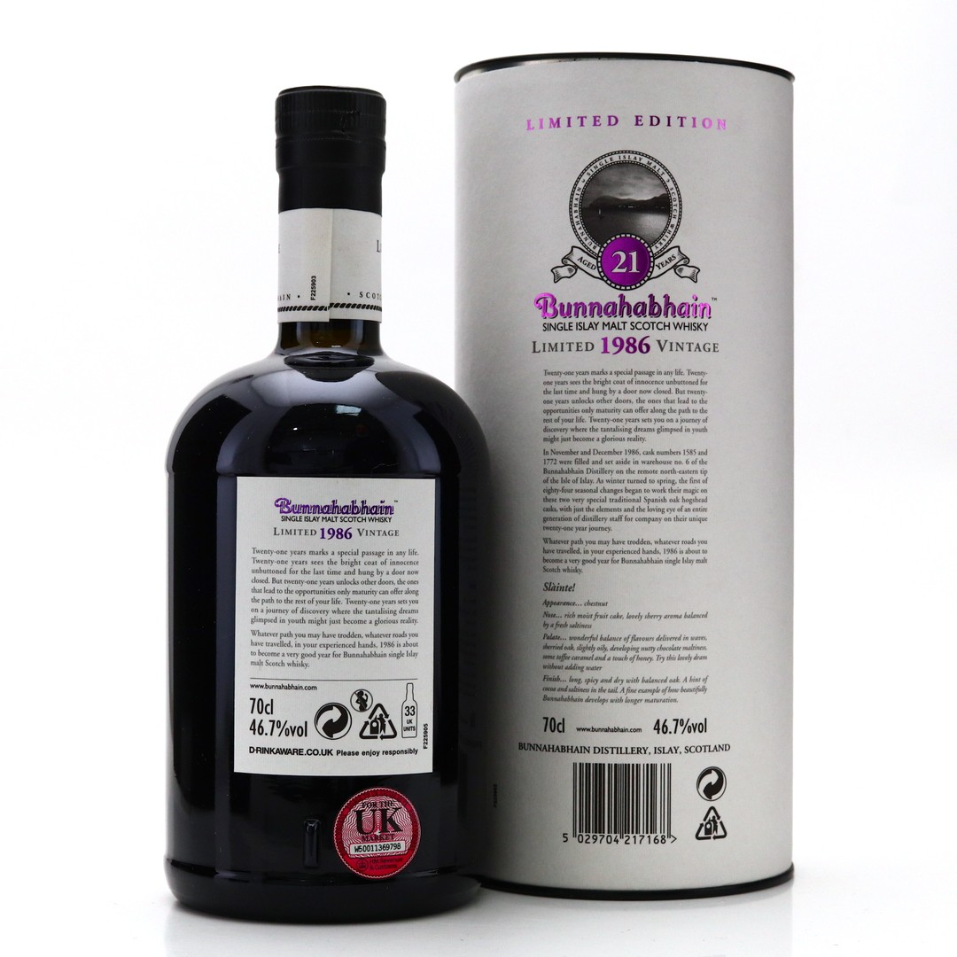 Bunnahabhain 1986 21 Year Old / Signed by John Maclellan