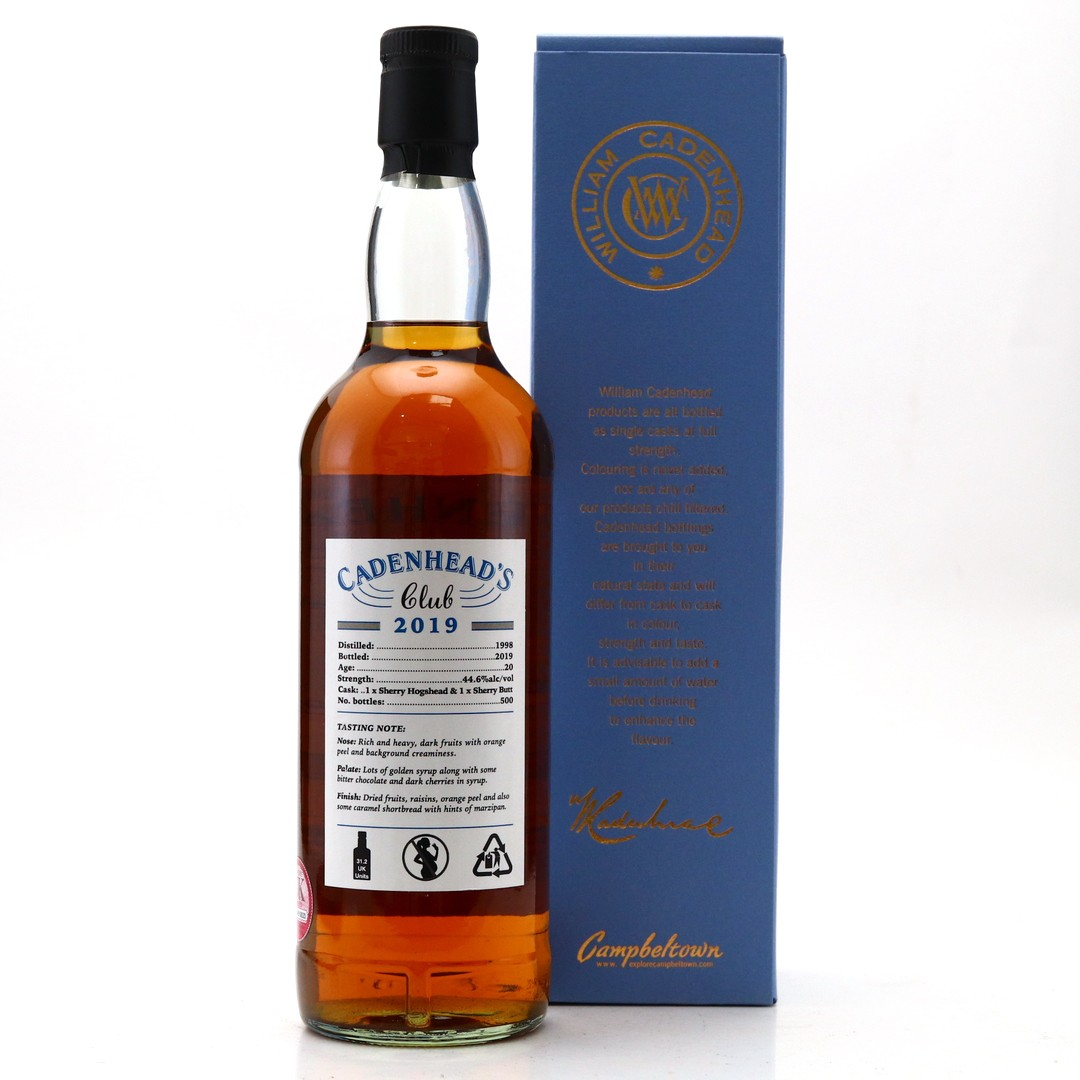 Cadenhead's Club 1998 20 Year Old Scotch Whisky