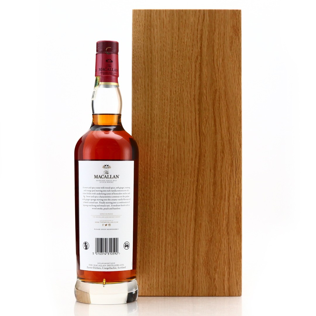*Remove bottle numbers on all pics please Macallan 71 Year Old The Red Collection