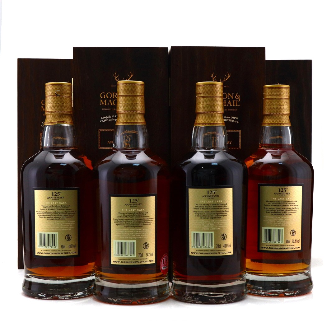 Gordon and MacPhail 125th Anniversary Editions 4 x 70cl