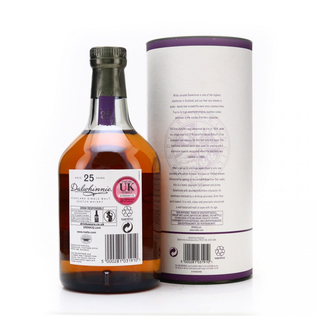 Dalwhinnie 1987 Cask Strength 25 Year Old