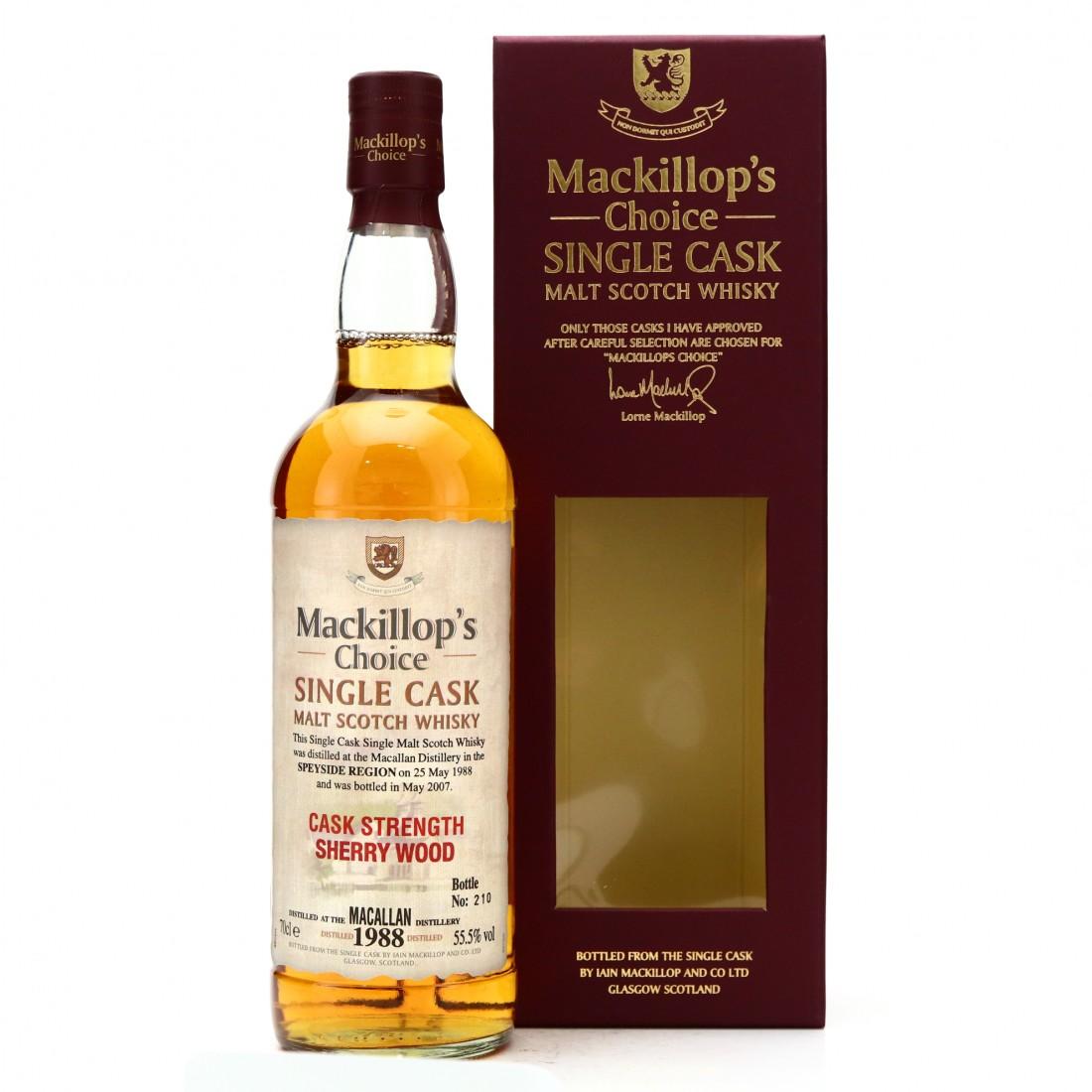 Macallan 1988 Mackillop's Choice