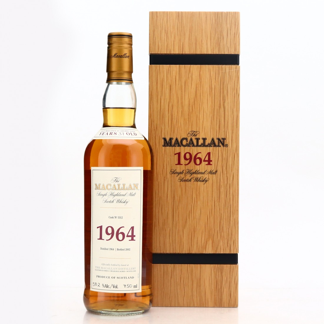 Macallan 1964 Fine and Rare 37 Year Old #3312 75cl
