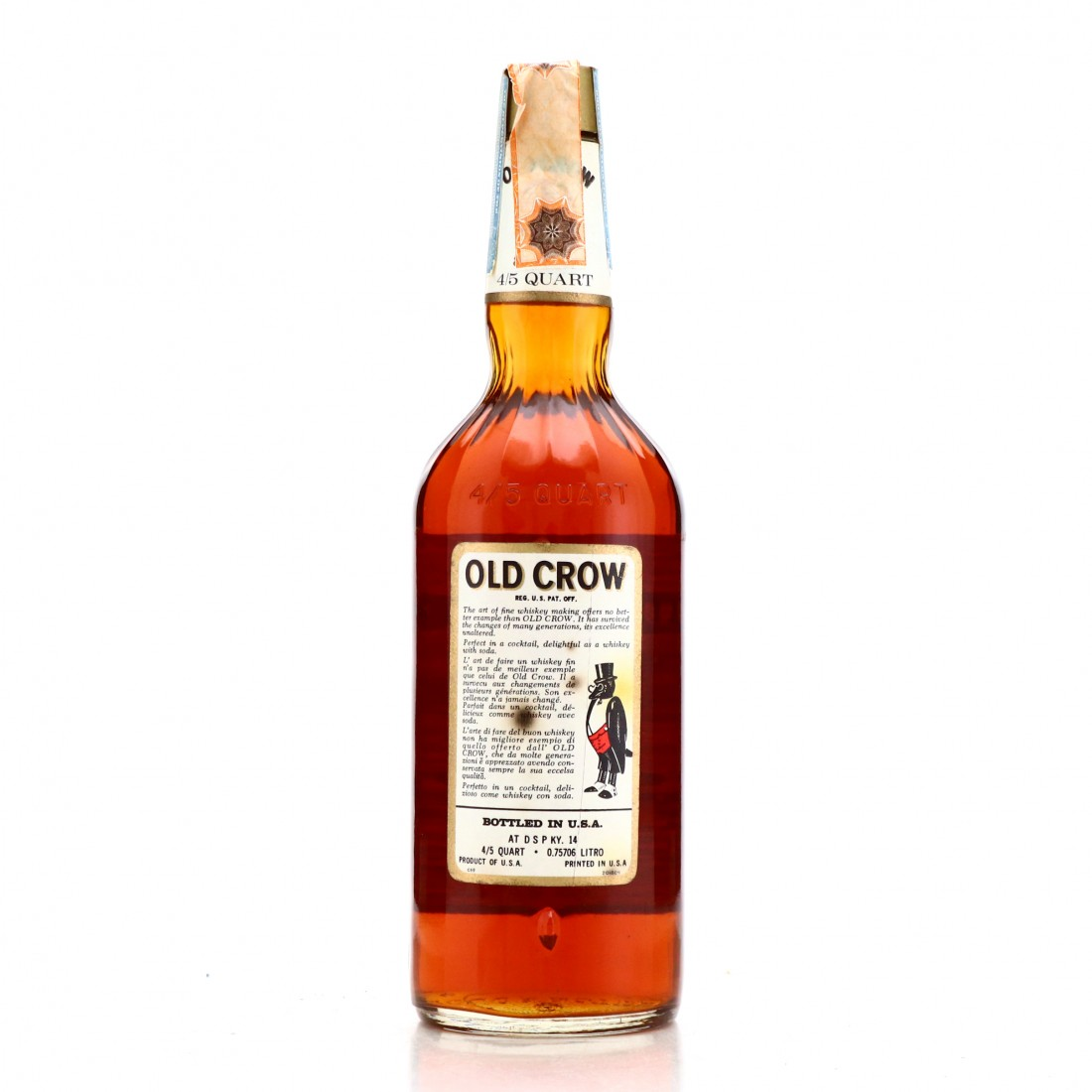 Old Crow Bottled in Bond 86 Proof 1963