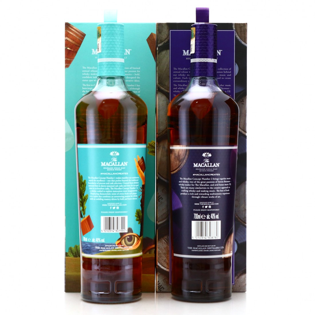 Macallan Concept Number 1 and 2 / Art and Music Set