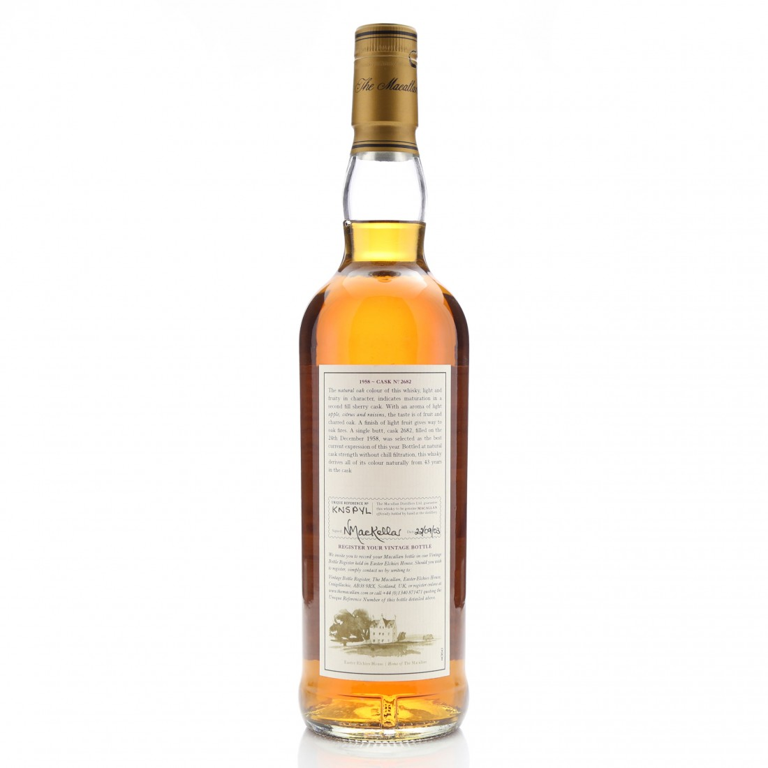 Macallan 1958 Fine and Rare 43 Year Old #2682