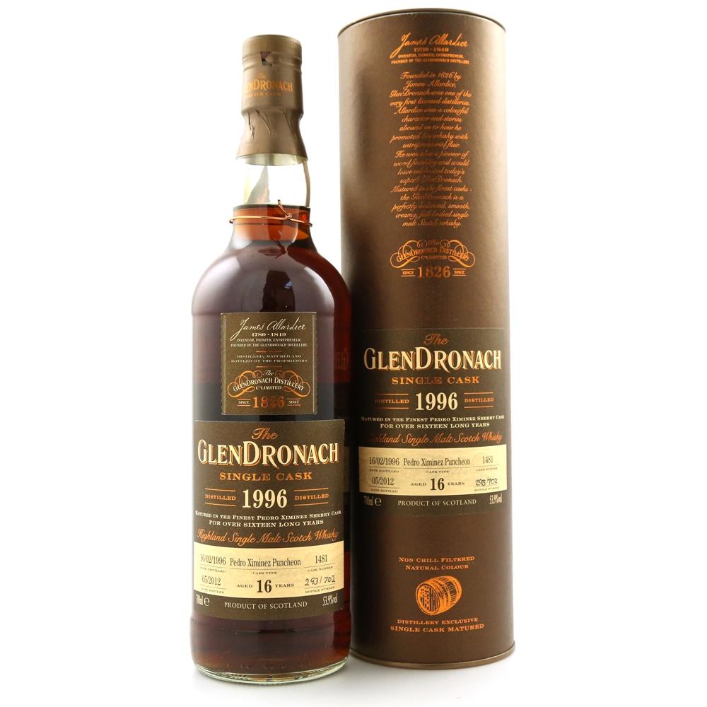 Glendronach 1996 Single Cask 16 Year Old #1481