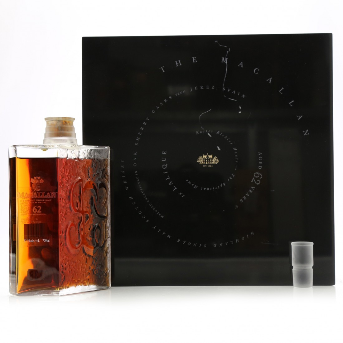 Macallan 62 Year Old Lalique Six Pillars Collection 75cl / US Import