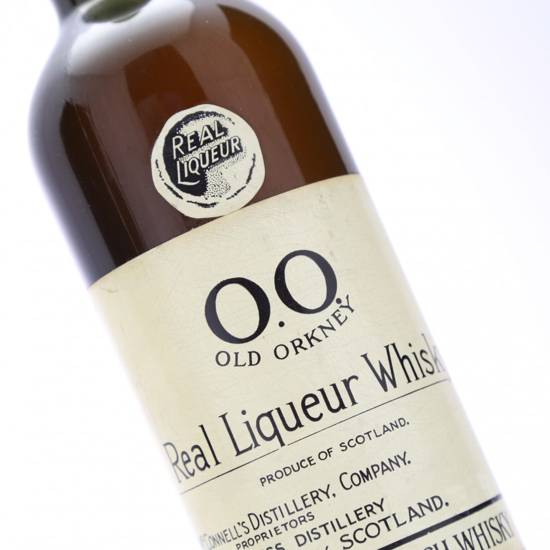 O.O. Old Orkney Real Liqueur Whisky circa 1940s