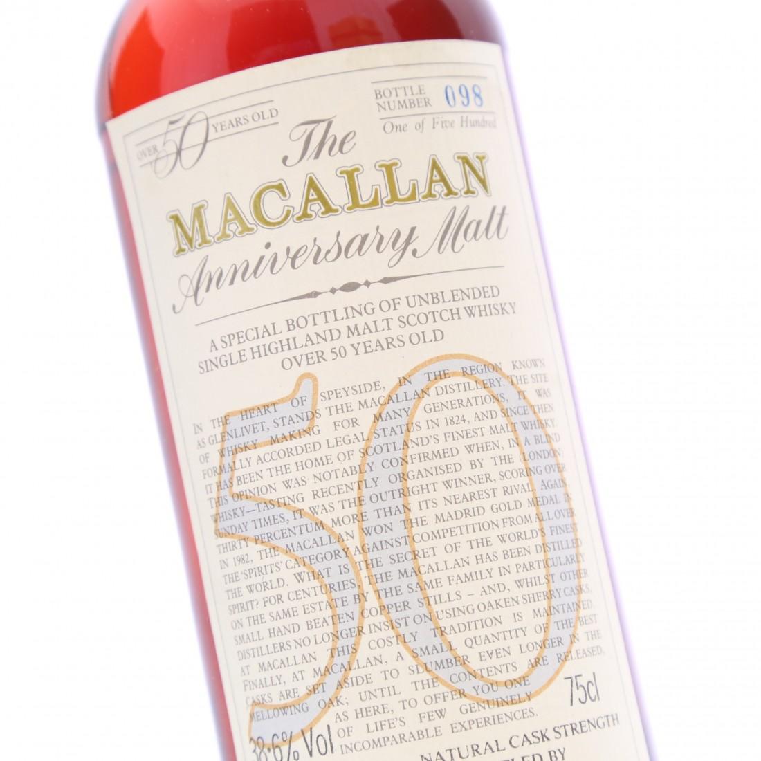 Macallan 1928 Anniversary Malt 50 Year Old