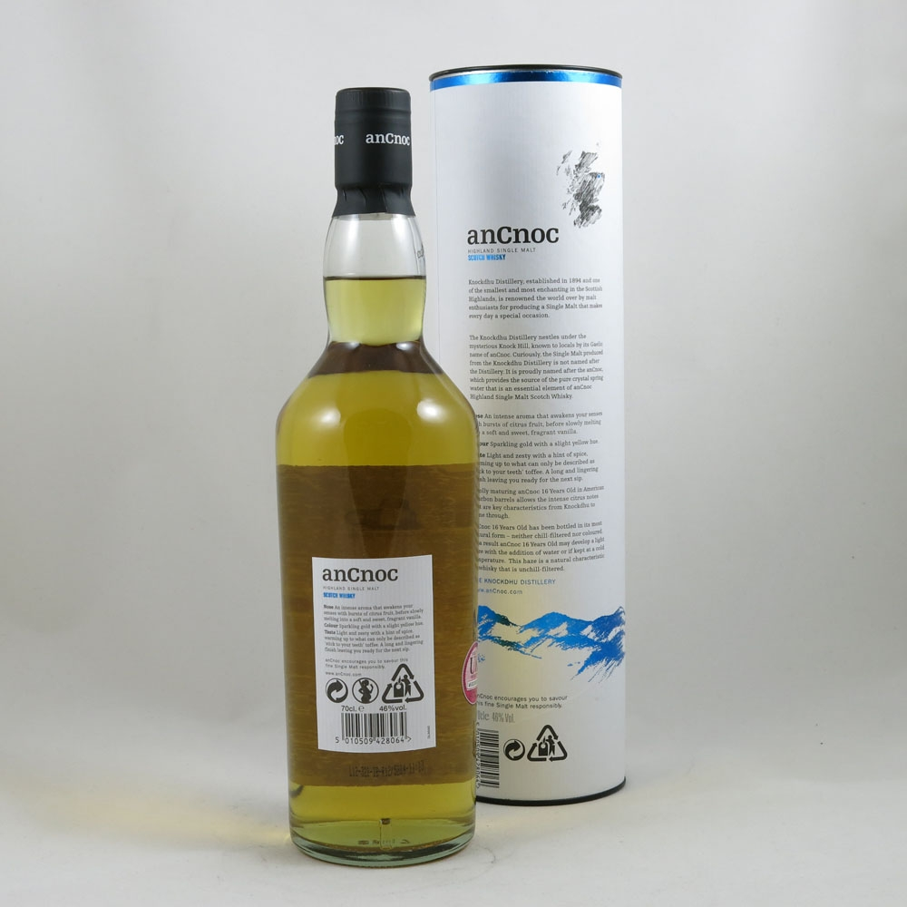 AnCnoc 16 Year Old back