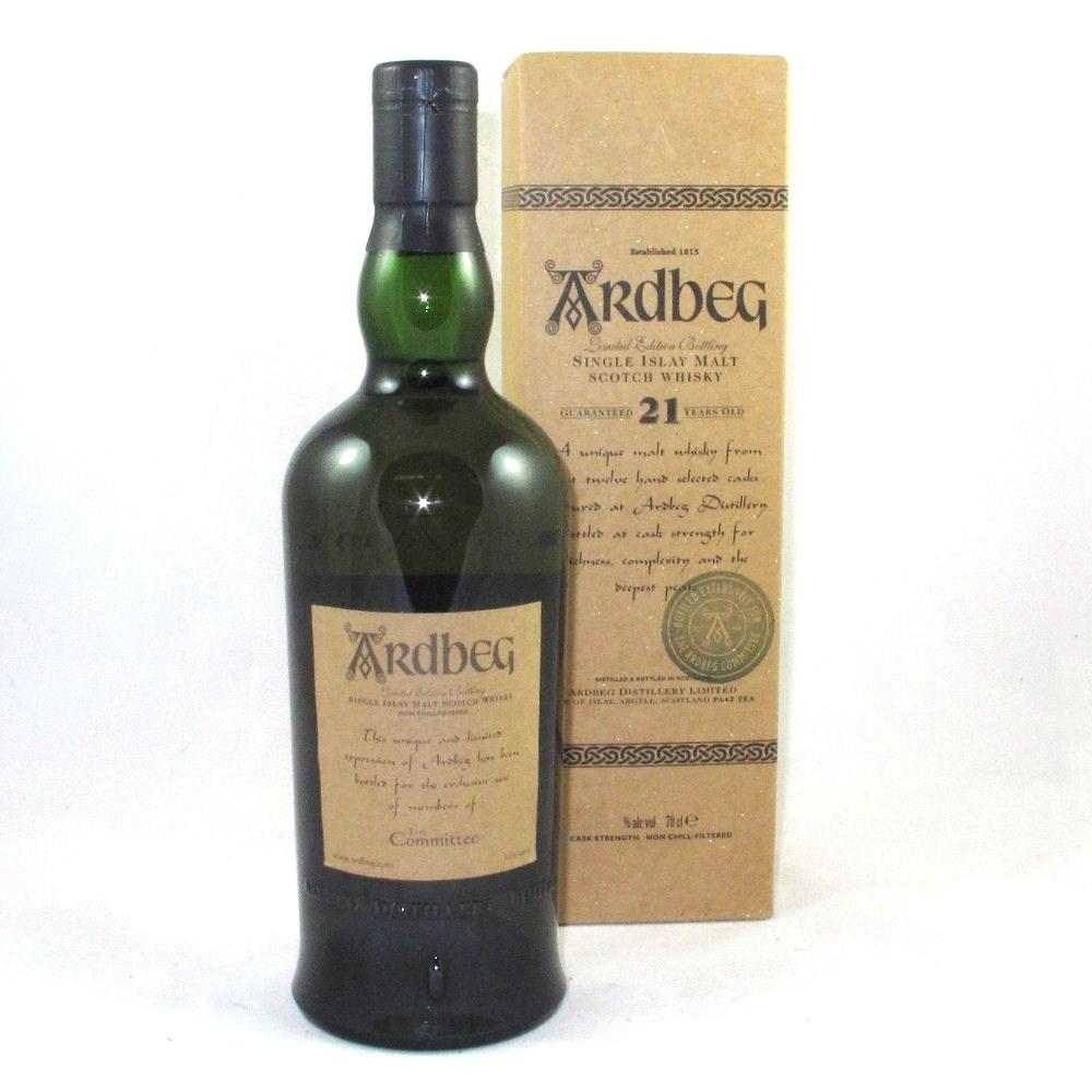 Ardbeg 21 Year Old (Committee Bottling) Back