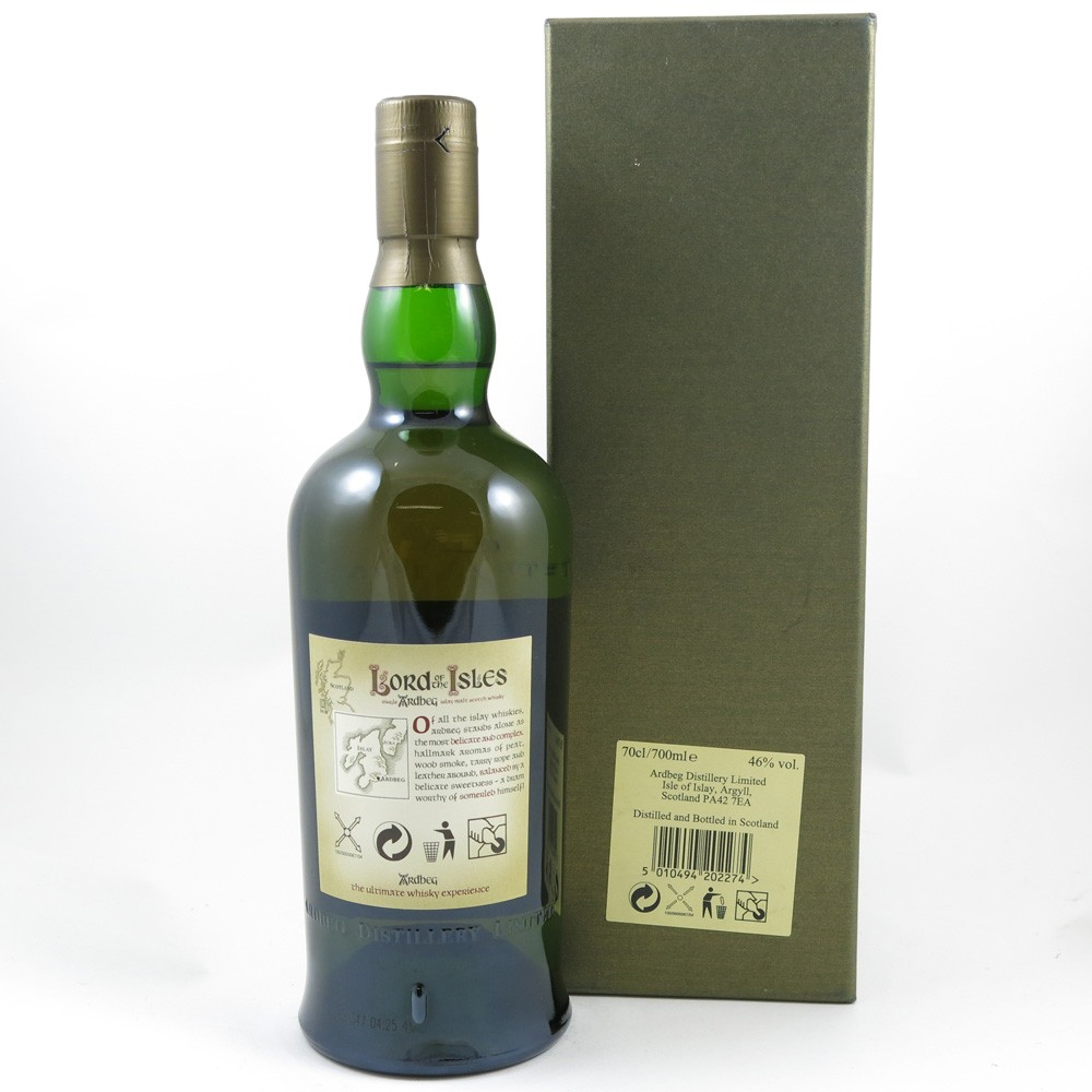 Ardbeg Lord of the Isles 25 Year Old Back