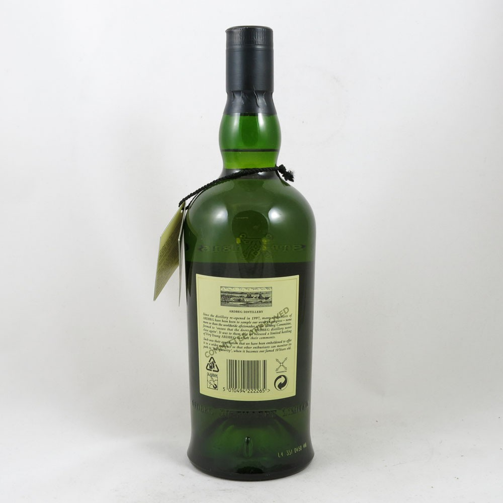 Ardbeg Very Young 1998 back