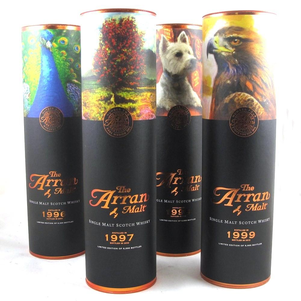 Arran Icon's of Arran Series - Peacock, Westie, Rowan Tree and Eagle