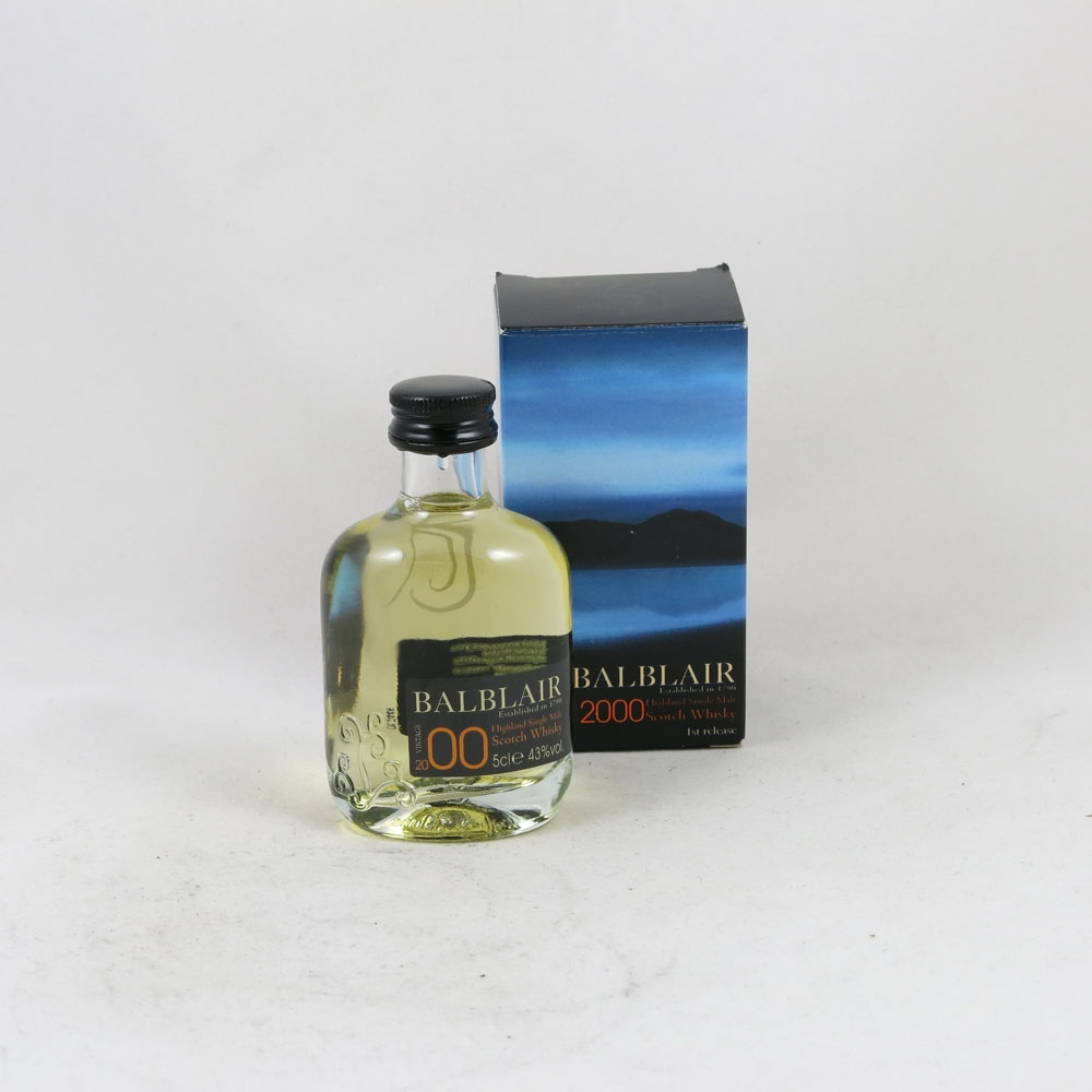 Balblair 2000 (70cl and 5cl) mini front