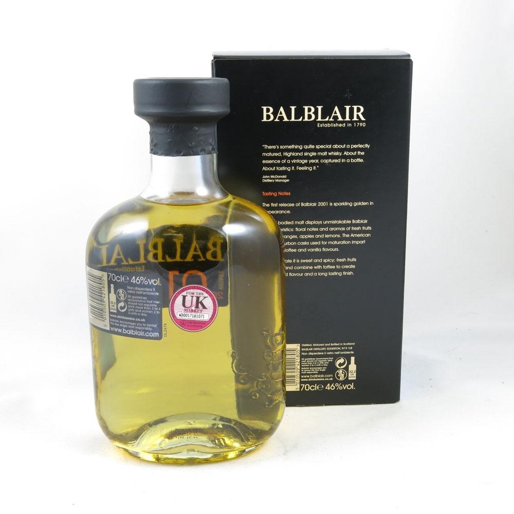 Balblair 2001 back