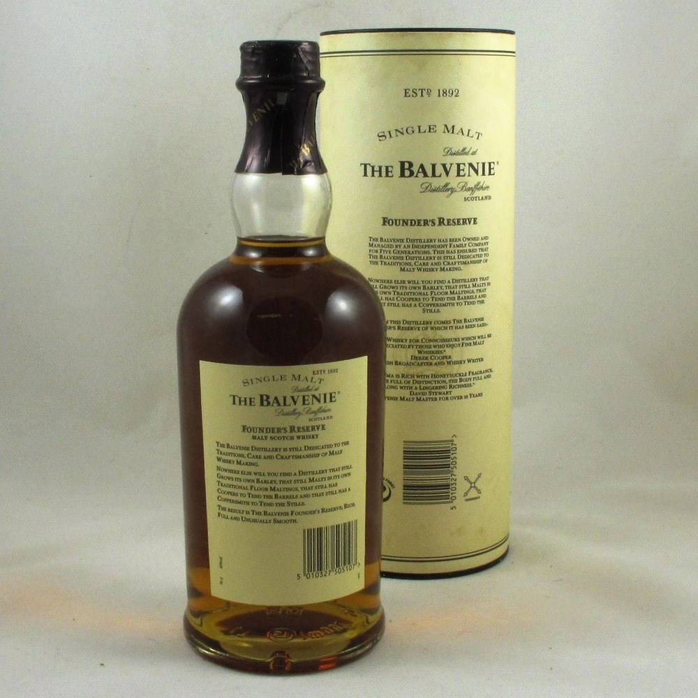 Balvenie 10 Year Old Founder's Reserve Back