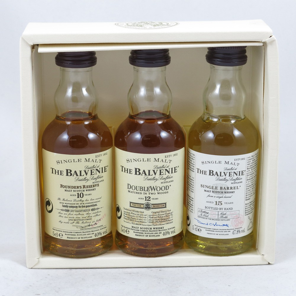 Balvenie Gift Pack (10, 12, 15 Year Old) 3 x 5cl Open
