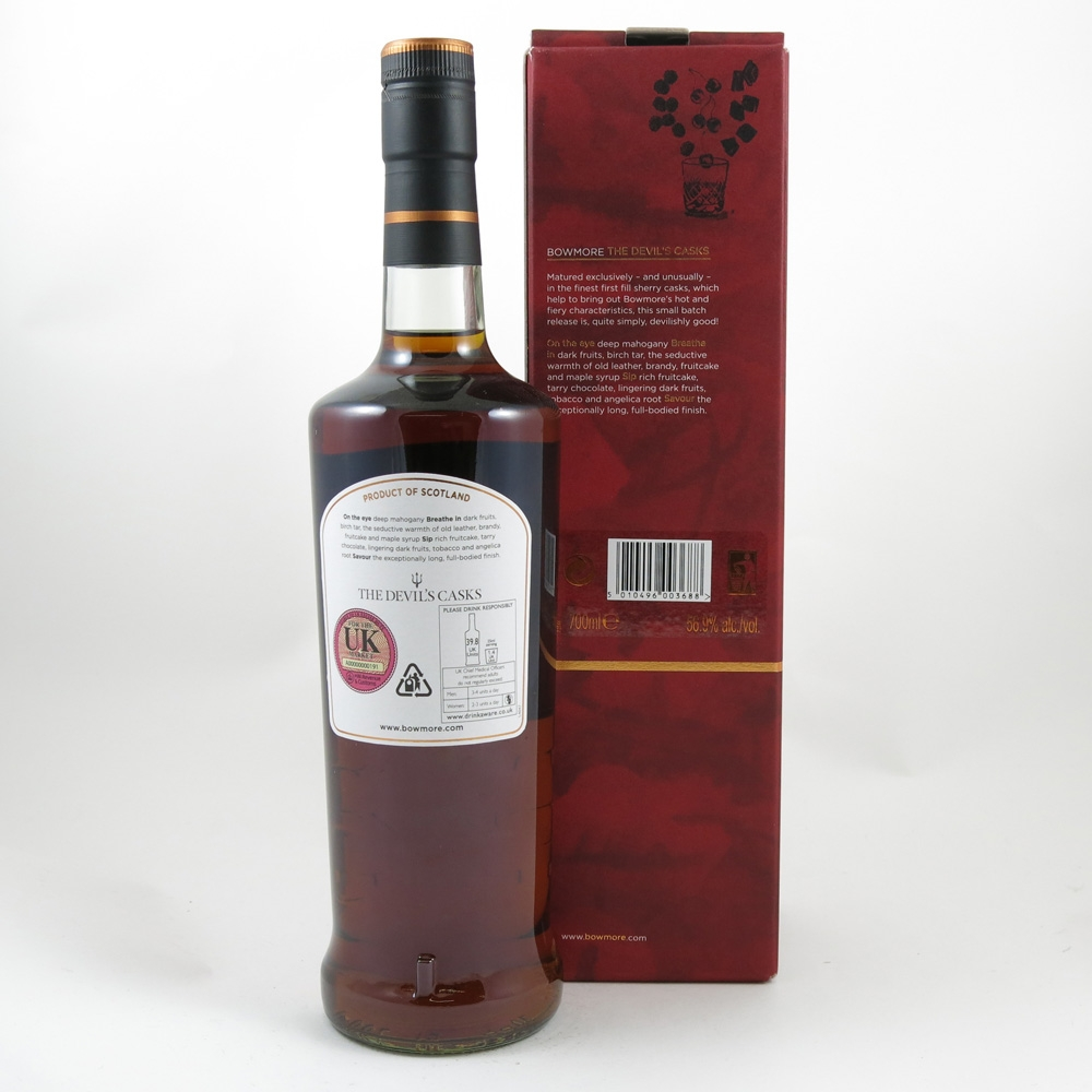 Bowmore Devil's Cask 10 Year Old back