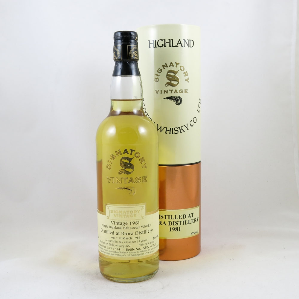 Brora 1981 Signatory Vintage 19 Year Old Front