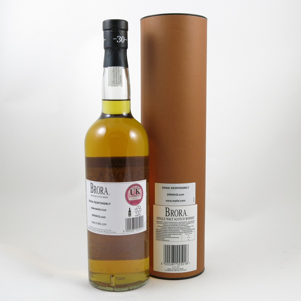 Brora 30 Year Old 2009 Release back