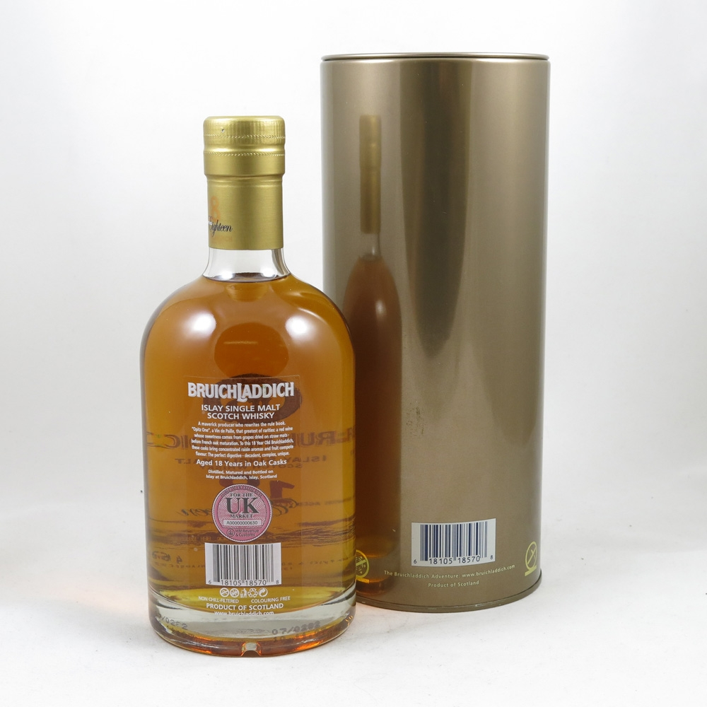 Bruichladdich 18 Year Old 1st Edition back