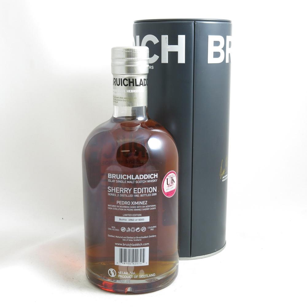 Bruichladdich 1992 Pedro Ximinez Sherry Edition back