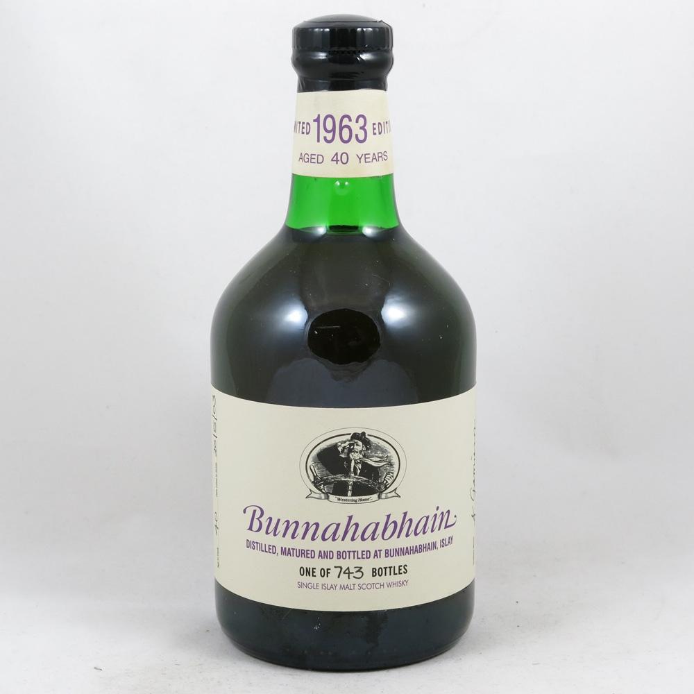 Bunnahabhain 1963 40 Year Old Feis Ile 2003 front