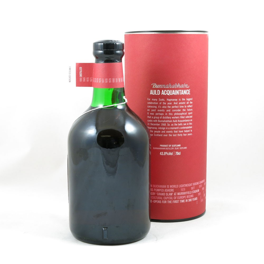 Bunnahabhain 1968 Auld Acquaintance 34 Year Old back