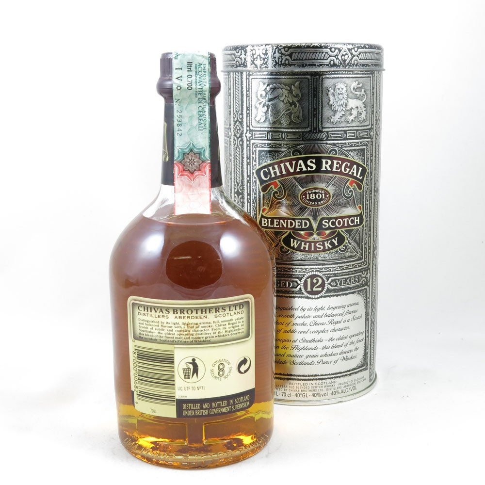 Chivas 12 Year Old (Old Style Tin) back