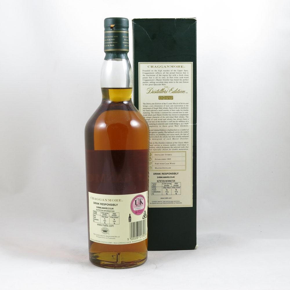 Cragganmore 1993 Distillers Edition 2007 back