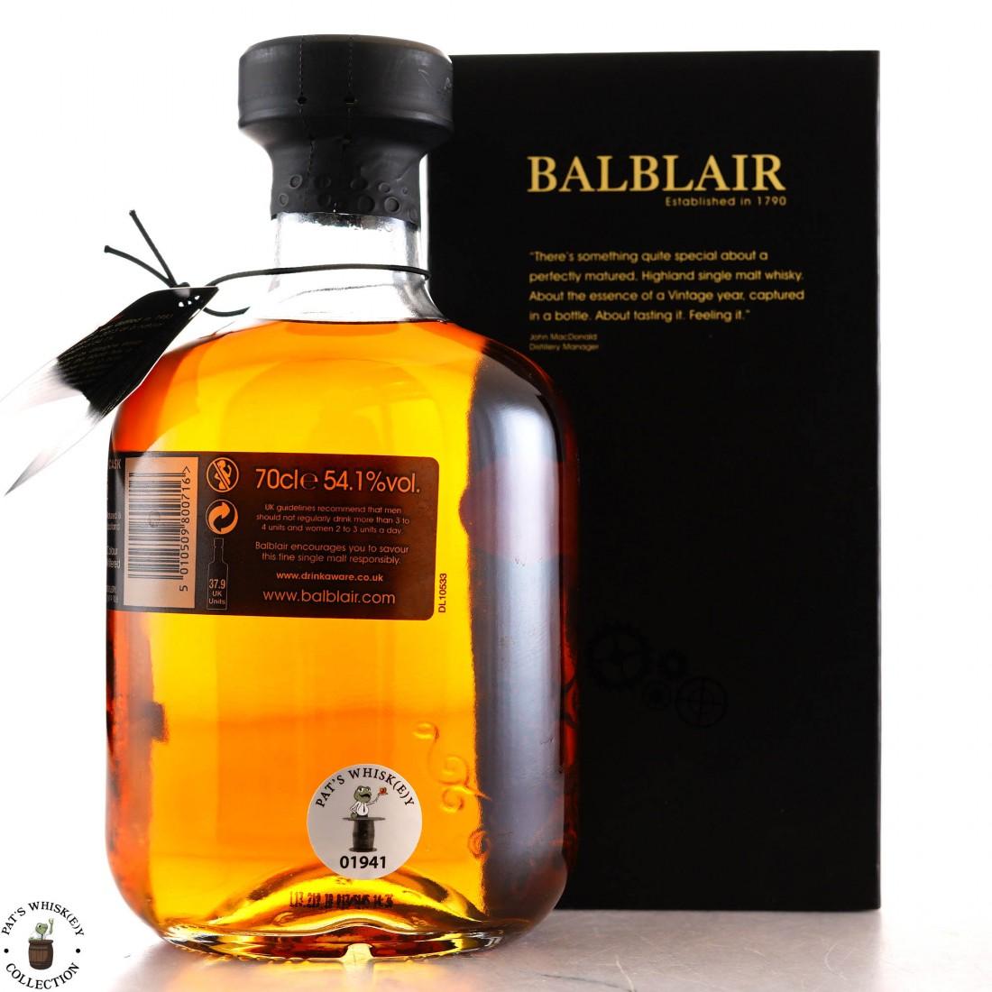 Balblair 1983 Single Bourbon Cask #1252 / World of Whiskies