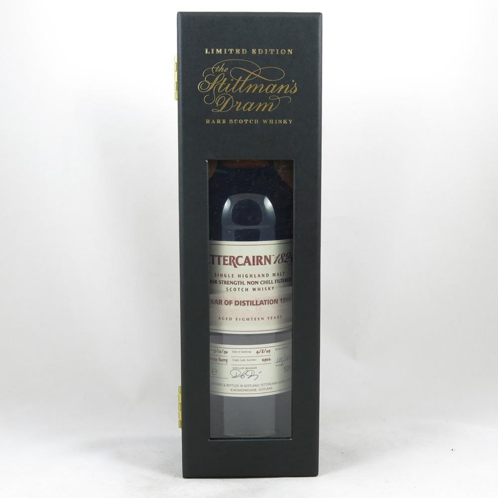 Fettercairn 1990 Stillman's Dram 18 Year Old box