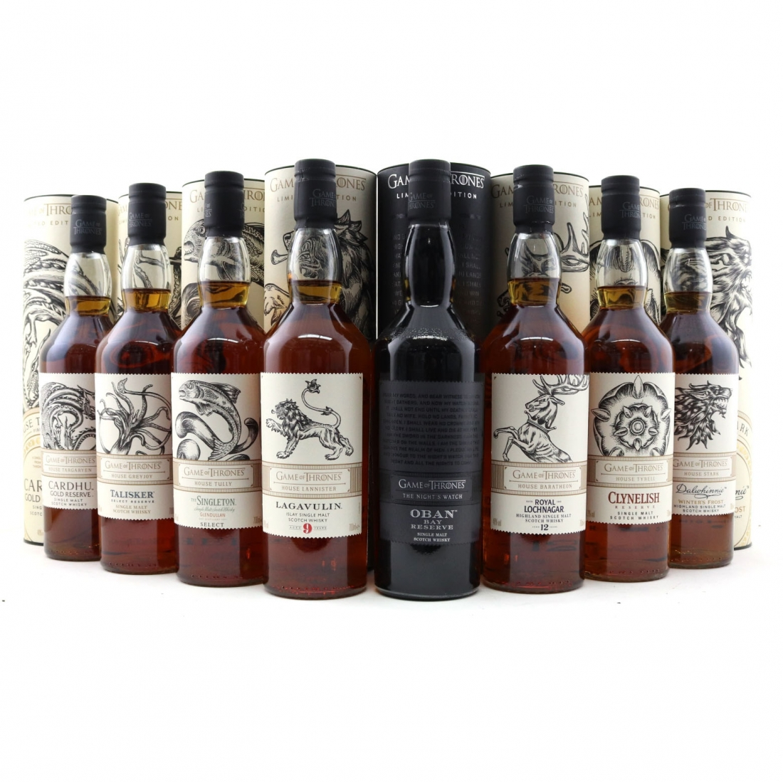 Game of Thrones Limited Editions 8 x 70cl