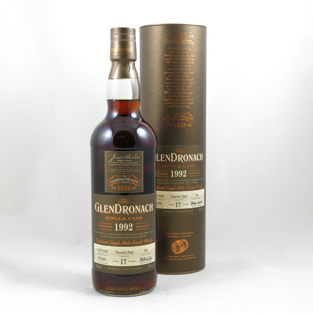 Glendronach 1992 Single Cask 17 Year Old front