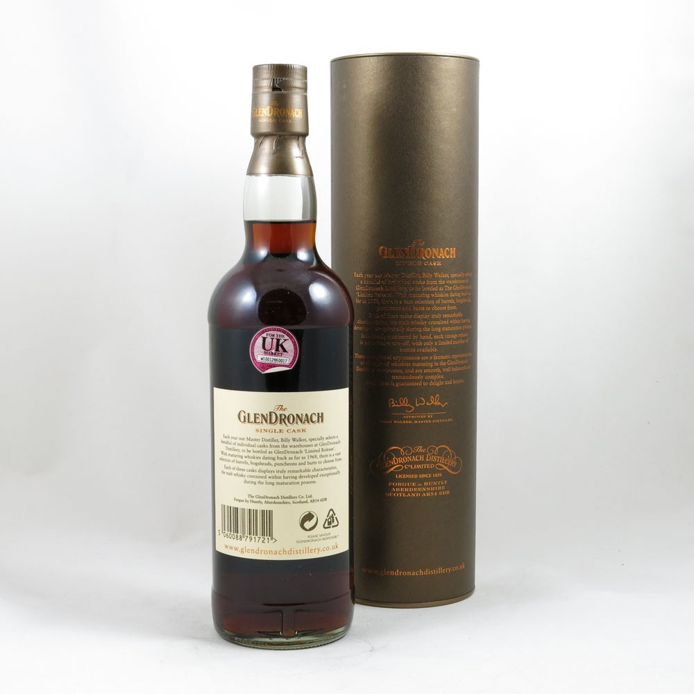 Glendronach 1992 Single Cask 17 Year Old back