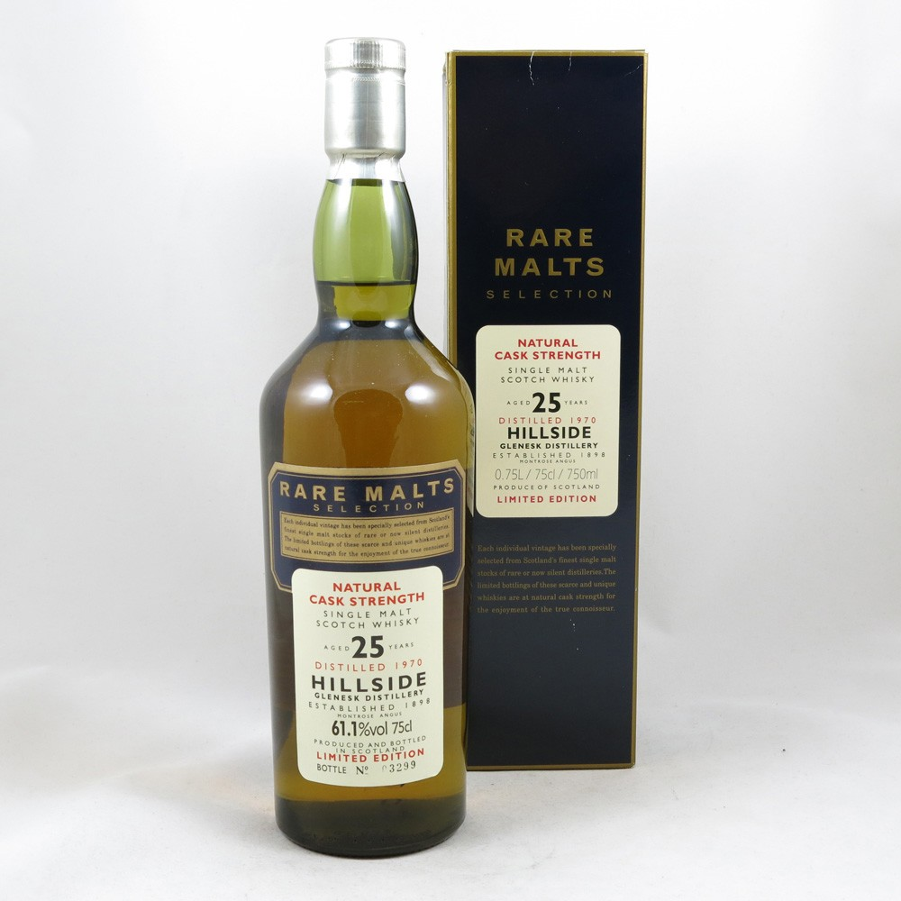 Hillside 1970 25 Year Old Rare Malt 75cl front