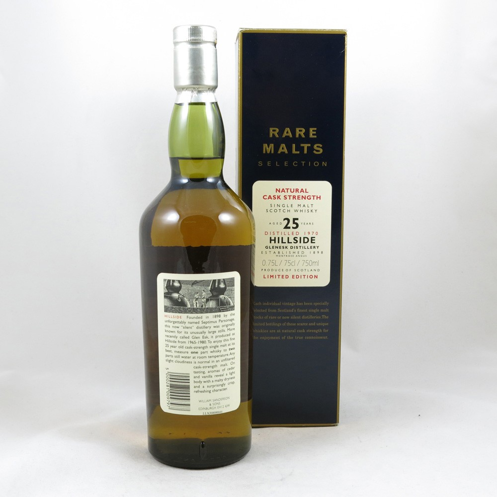 Hillside 1970 25 Year Old Rare Malt 75cl back