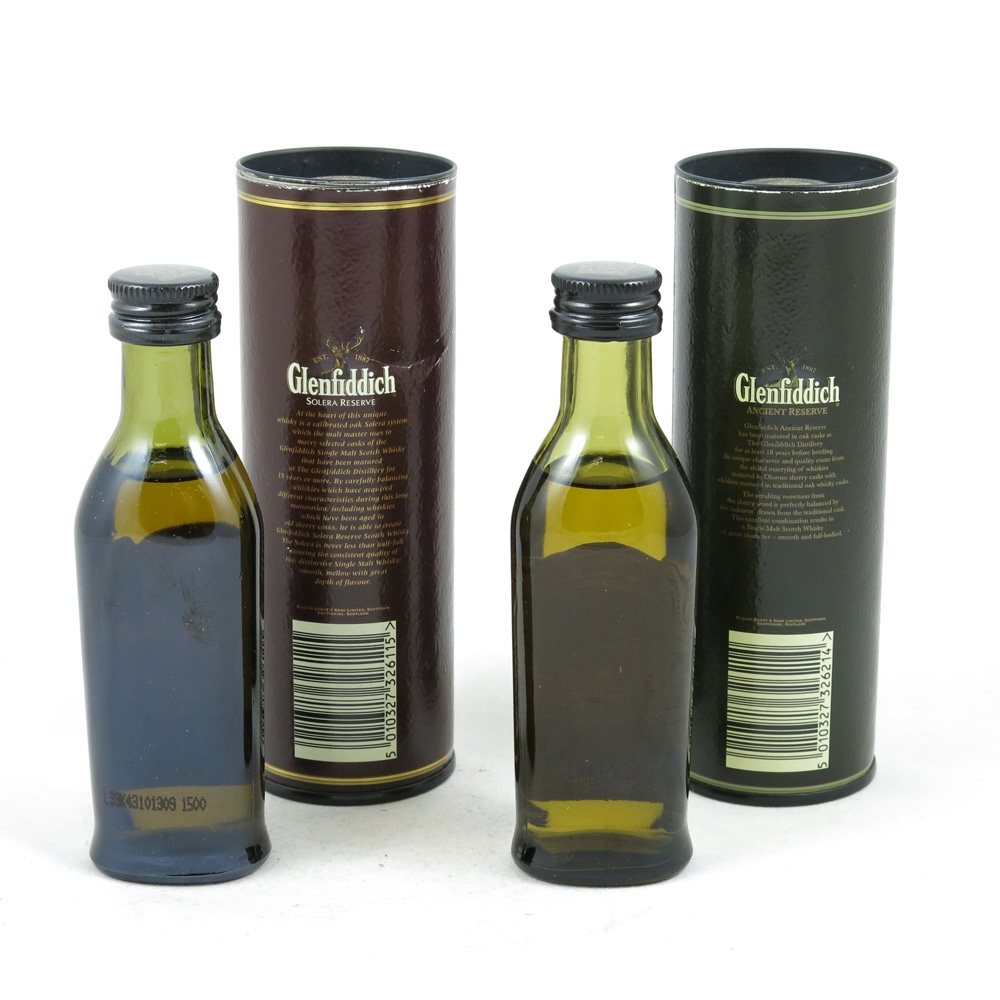 Glenfiddich 15 and 18 Year Old Minatures 2 x 5cl Back