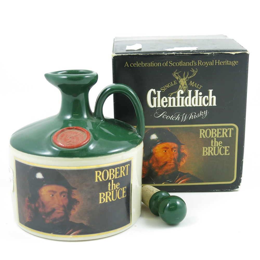 Glenfiddich Robert The Bruce Stoneware Decanter Front