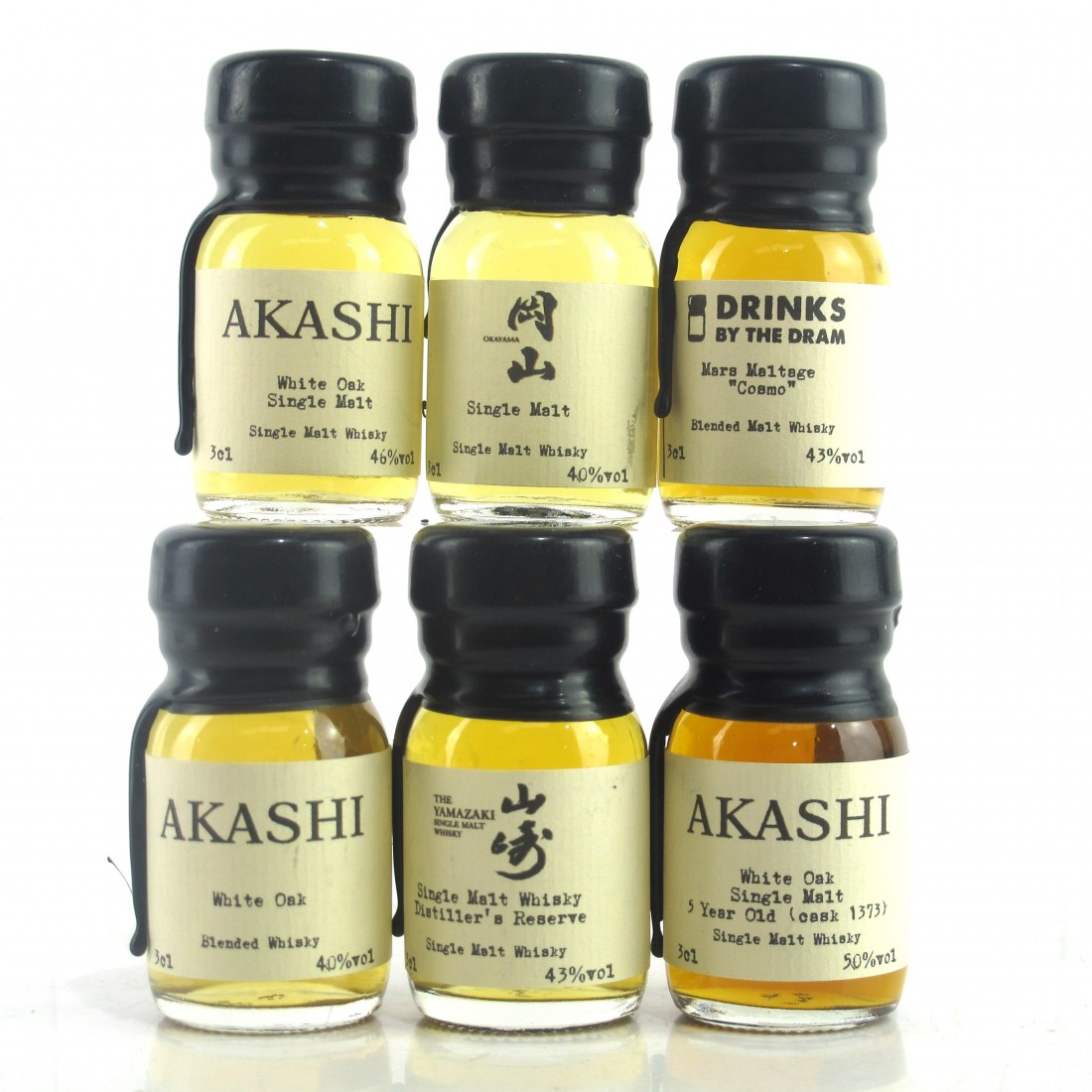 Japanese Drinks by the Dram Miniatures 6 x 3cl