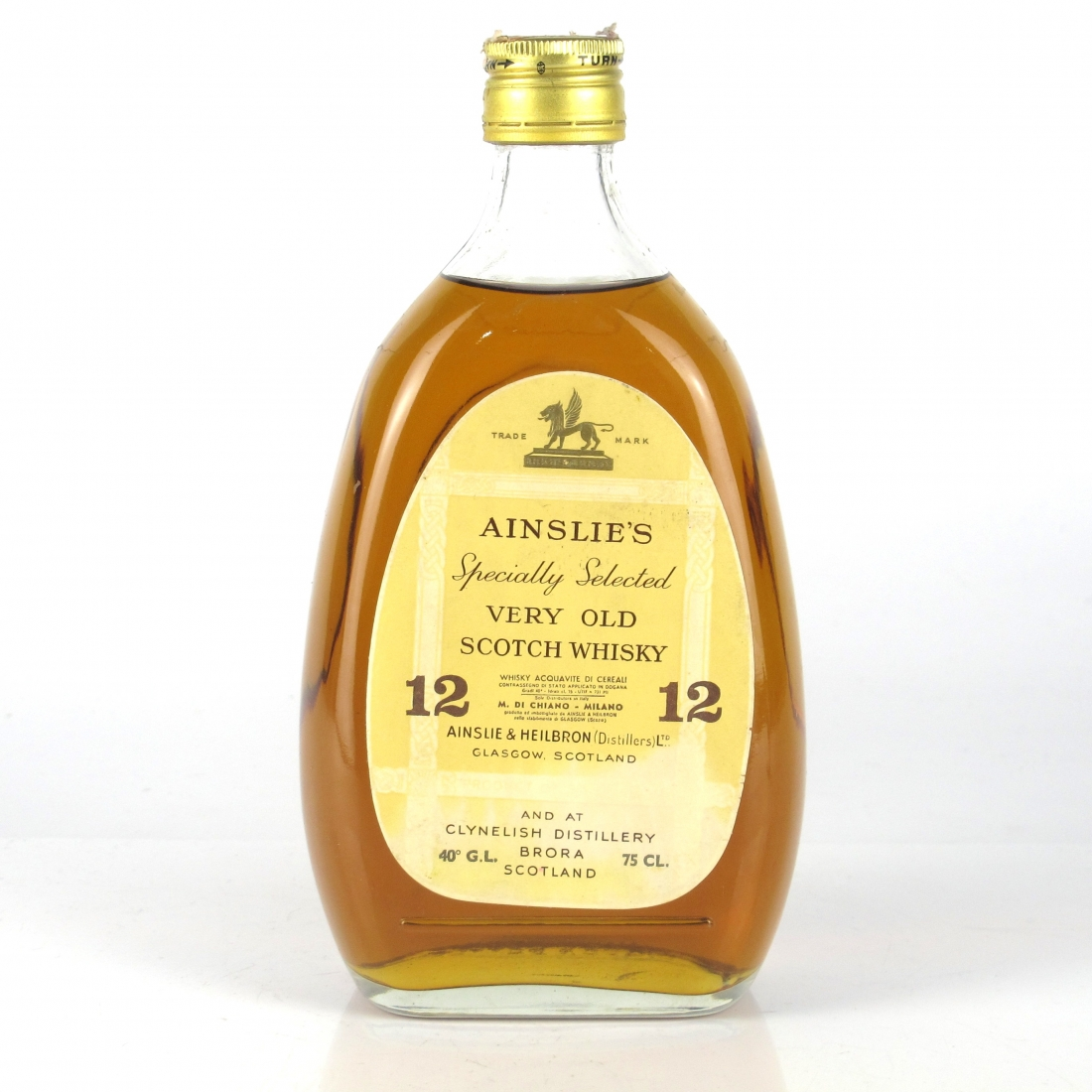 Ainslie's 12 Year Old Specially Selected 1970s / Di Chiano Import