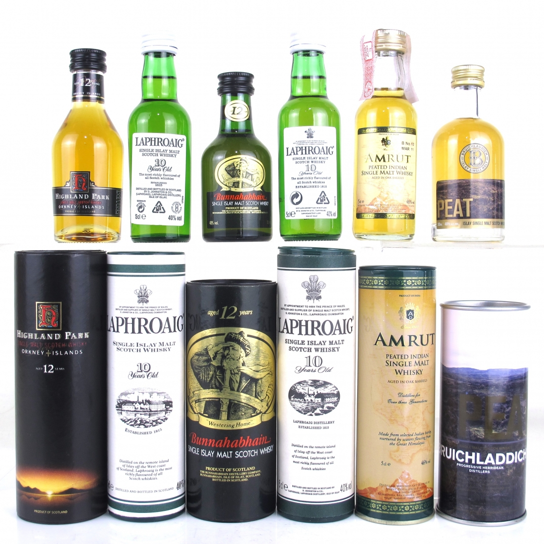 Peated Miniature Selection 6 x 5cl