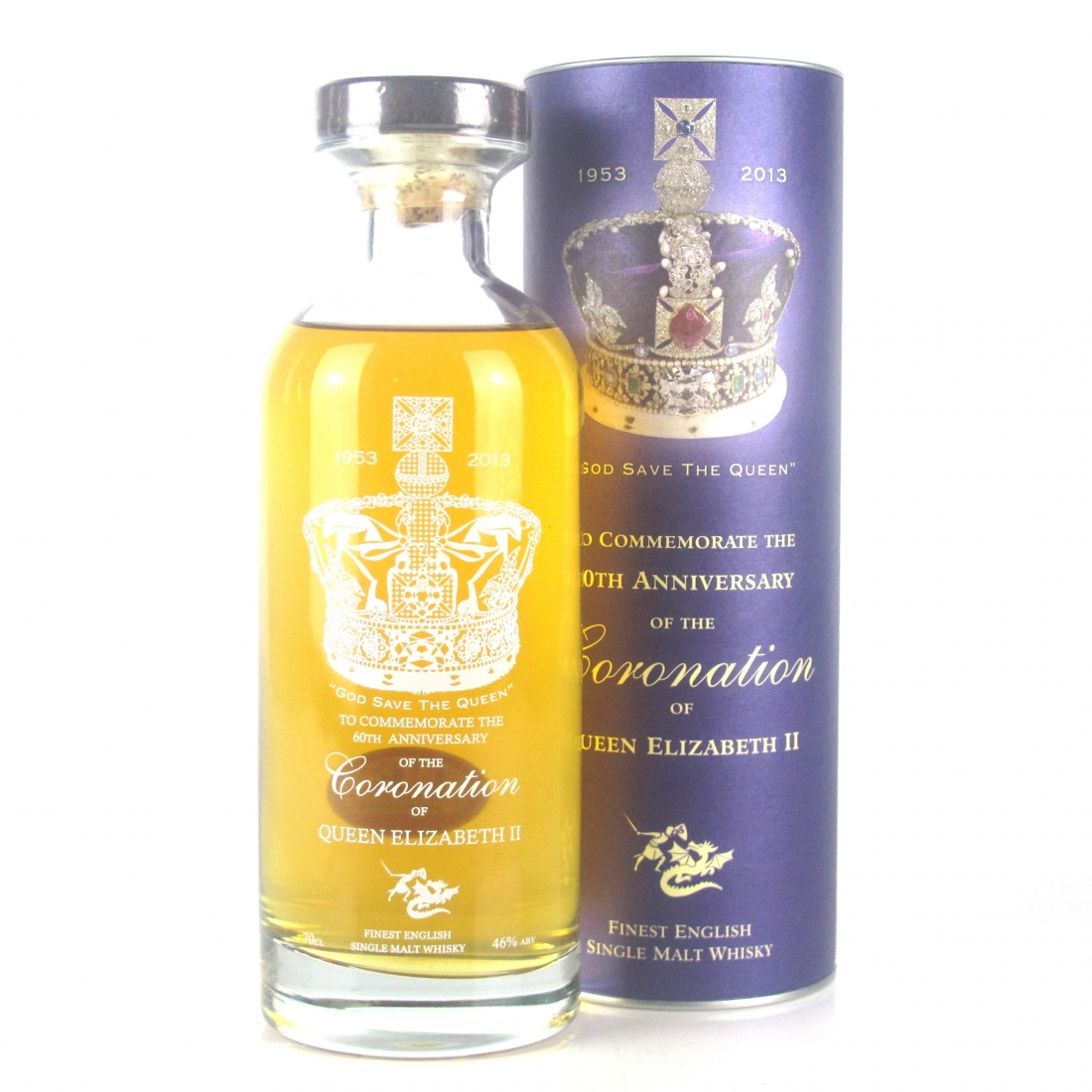 English Whisky Co 60th Anniversary of Queen Elizabeth II Coronation / Broken Seal