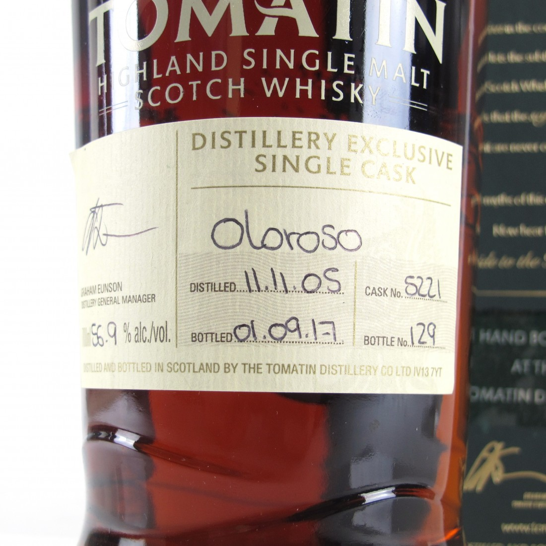 Tomatin 2005 Single Oloroso Cask Old #5221 / Distillery Exclusive