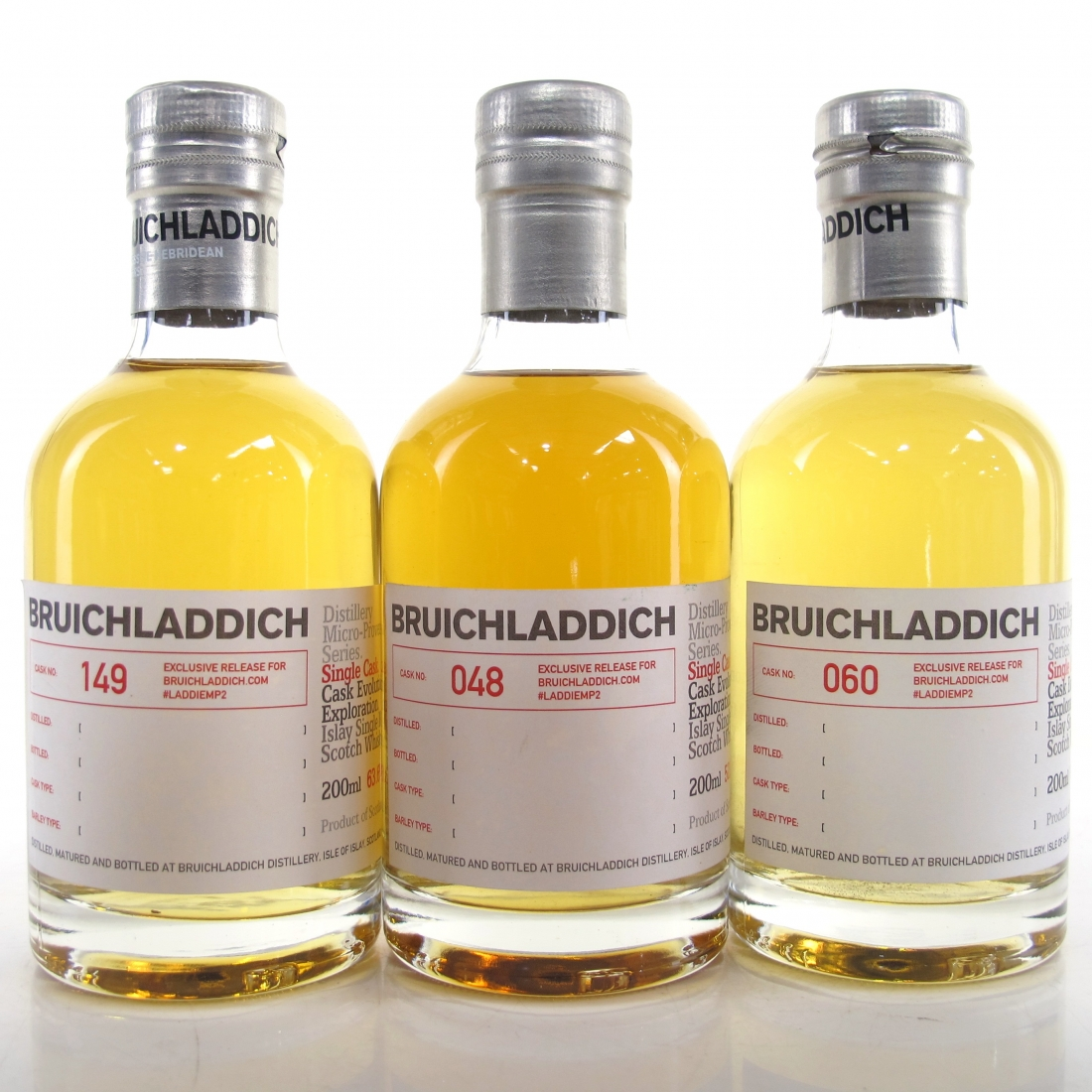 Bruichladdich 2nd Micro Provenance Tasting #2 3 x 20cl