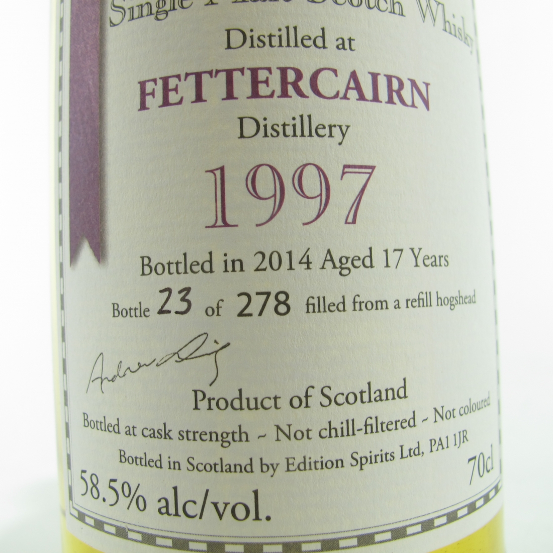 Fettercairn 1997 Edition Spirits 17 Year Old